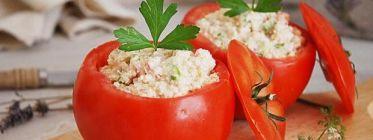 Tomates rellenos de hueveras con quinua